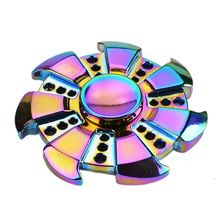 Rainbow Heptagonal Hand Spinner fidget Zinc Alloy Metal fidget spinner metal bearing edc finger Spinner Hand relieves stress(China (Mainland))