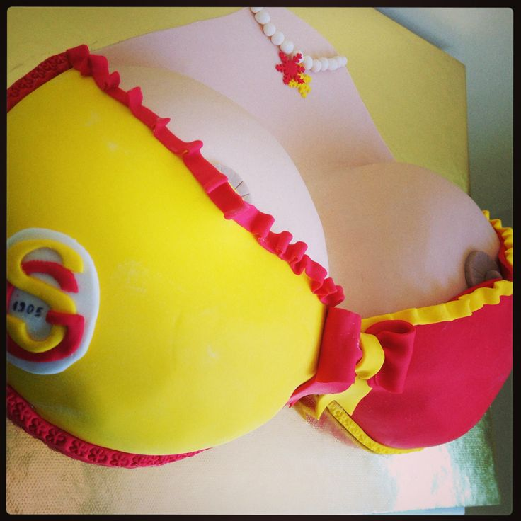 Galatasaray Bikini Pasta - Football Team Bikini Birthday Cake