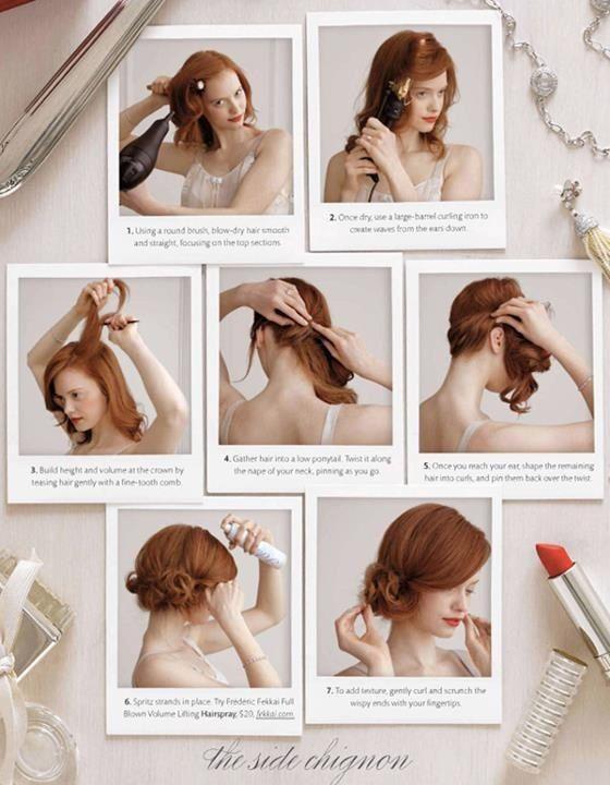 coiffure demoiselle d'honneur, p-e
