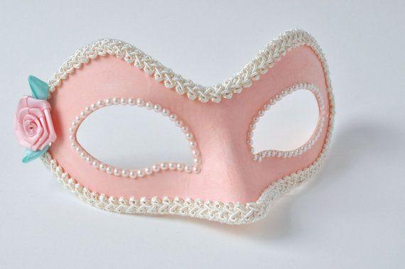 Máscara de la mascarada rosa Mascarada máscara veneciana