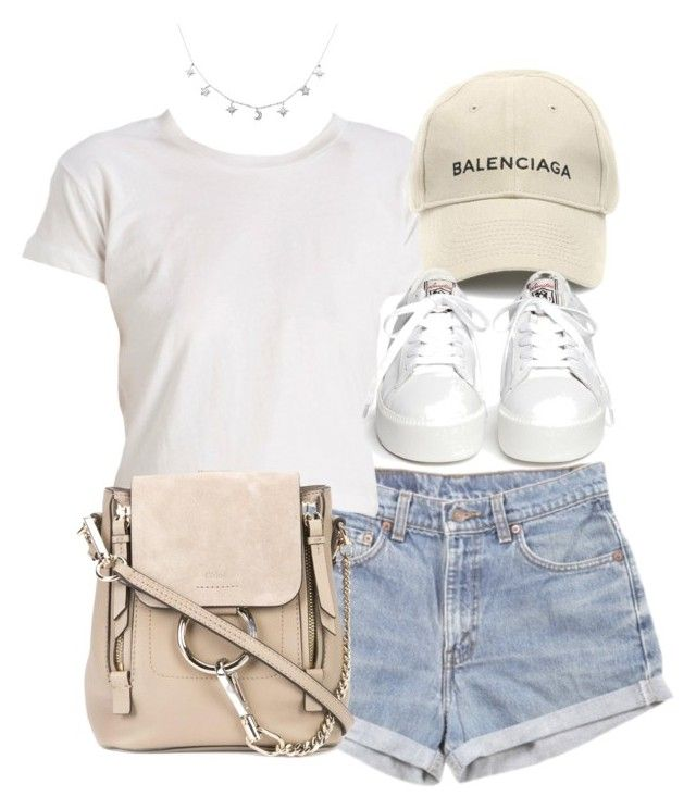 """""""Untitled #5362"""" by theeuropeancloset ❤ liked on Polyvore featuring Levi's, Balenciaga, Chloé and Ash"""