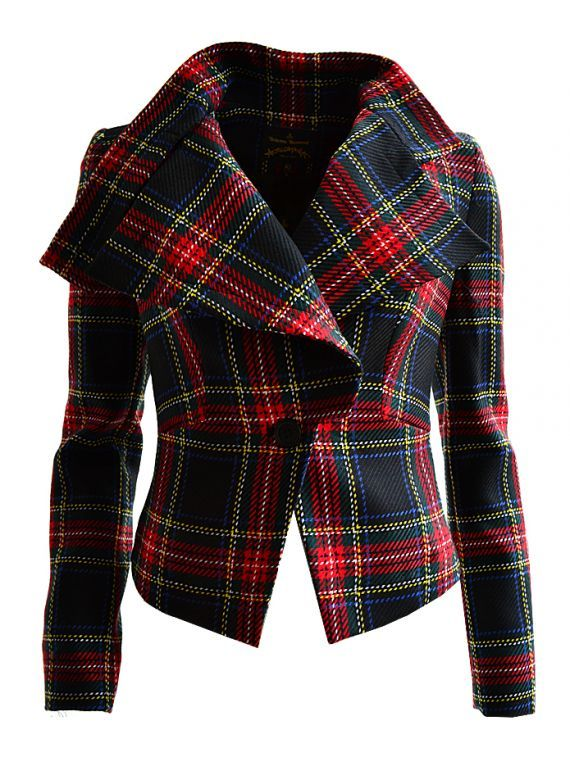 Tartan + generosity of cloth = signs it's Westwood