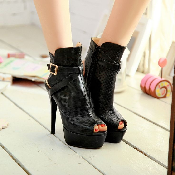 Wholesale Cool peep toe high heels ankle boots sandals for women Z-XLI359-2 - Lovely Fashion