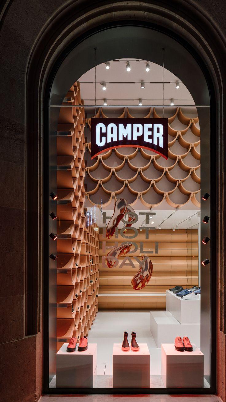 Ceramic Surfaces Define The Barcelona Camper Store