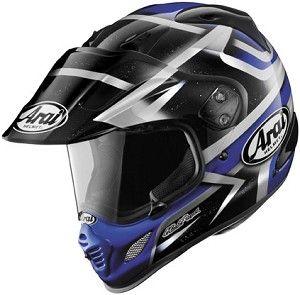 Arai XD-4 Diamante Blue Graphic Motorcycle Adventure Dual Sport Helmet.