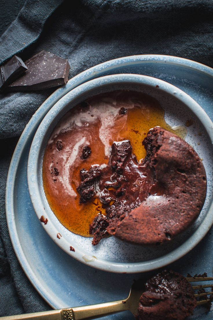 Molten Fudge Cakes with Cold Brew Syrup https://adventuresincooking.com/molten-fudge-cakes-with-cold-brew-syrup/