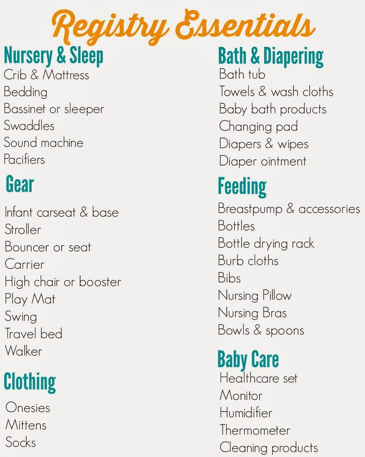 The Ultimate Registry Checklist, Free Printable! Great ideas & tips on making your baby registry.