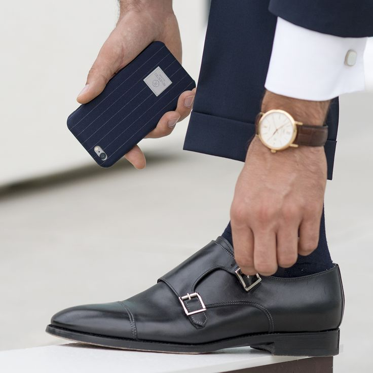 Revested Pinstripe iPhone cover.  Made with the finest italian fabrics for tailor-made suits.