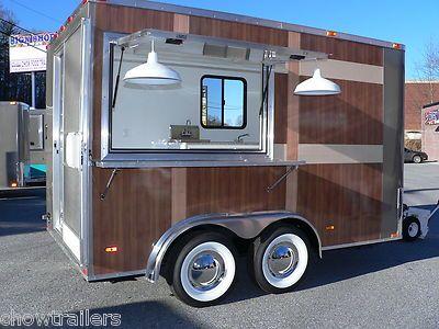 8 X 12 Vintage Style Woody Waterworks Mobile Food Truck Trailer
