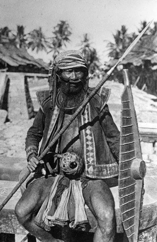 Nias warrior. Sumatra, Indonesia