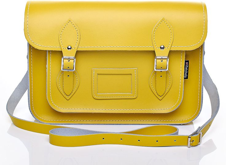 Womens canary yellow pastel daffodil yellow leather satchel from Zatchels - £43 at ClothingByColour.com