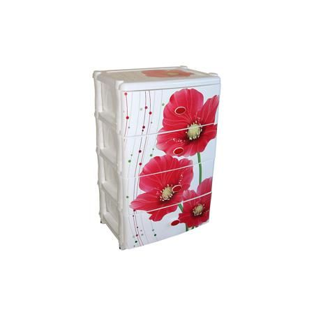 """Alternativa Комод широкий """"Маки"""" 4-х секцион. , Alternativa  — 2449р.  Характеристики:  • Предназначение: для кухни, ванной, спальни, прихожей • Пол: универсальный • Материал: пластик • Цвет: белый, красный, зеленый • Размер (Д*Ш*В):  42,5*56*90,5 см • Вес: 6 кг 200 г • Количество секций: 4 шт. • Тип ящиков: выдвижные, с ручками • В комплекте имеется инструкция по сборке • Форма: прямоугольный • Особенности ухода: разрешается мыть теплой водой  Комод широкий """"Маки"""" 4-х секционный…"""
