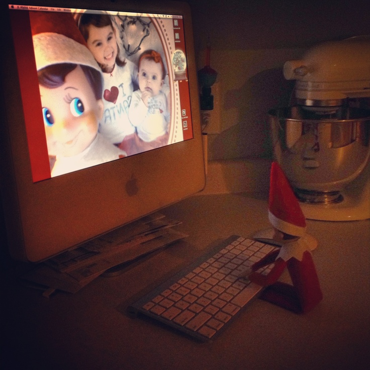 Our elf on the shelf photobombing the desktop wallpaper - Christmas elf on the shelf wallpaper ...
