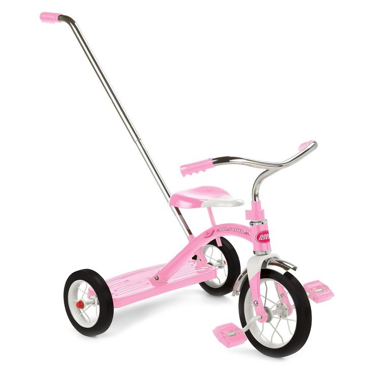 Radio Flyer Classic Tricycle with Push Handle - Pink,