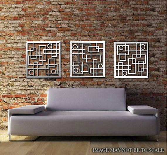 Metal Wall Art, Decor, Is Both Abstract, Modern And Industrial, We Love