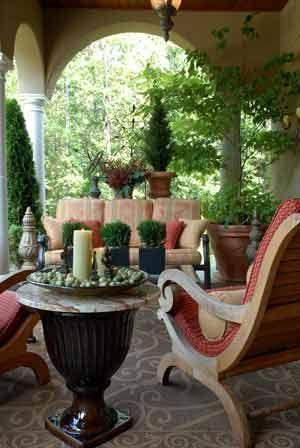 beautiful veranda and furniture