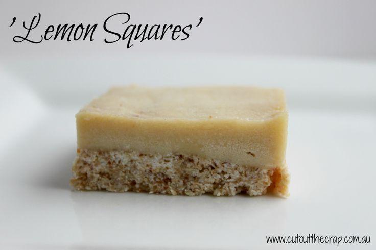 Lemon Squares (slice) so amazingly tasty! Gluten Free, Dairy Free, Preservative Free, Additive Free http://www.cutoutthecrap.com.au/lemon-squares/