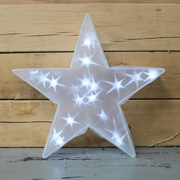 I've just found Freestanding Star With Lights. Freestanding Star with Lights.. £40.99