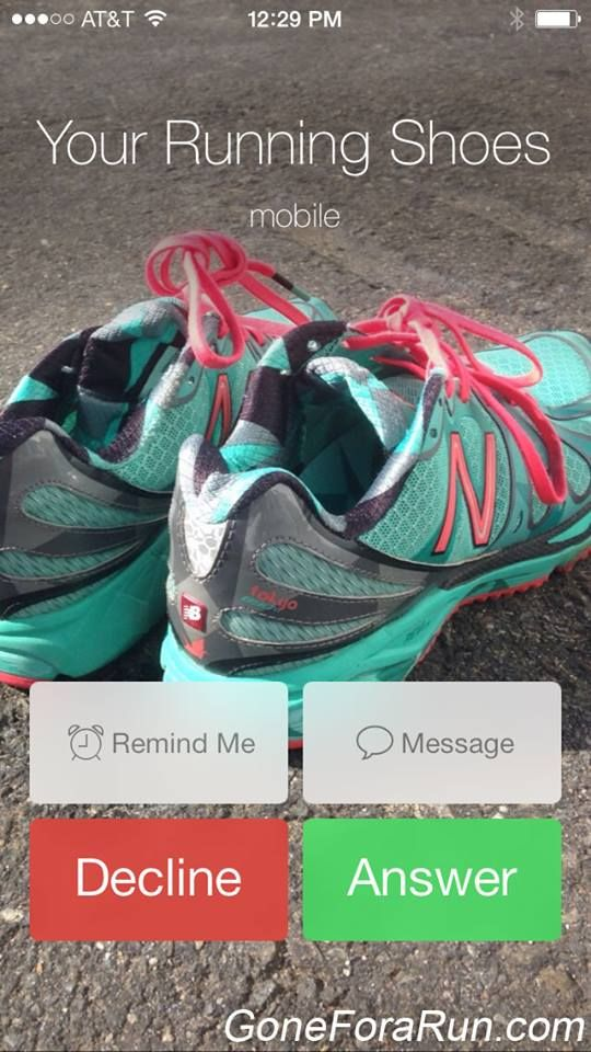 Your running shoes are calling! Answer the call.
