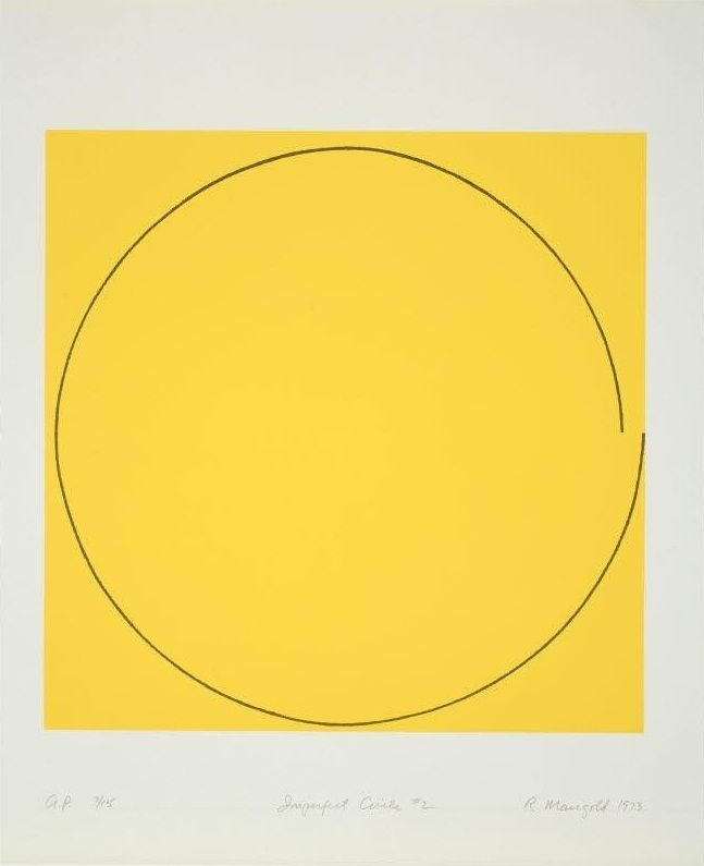 icancauseaconstellation:  Robert Mangold, Imperfect Circle #2, 1973.