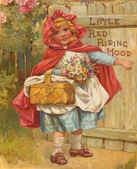 Little Red Riding Hood, illustration by Carl Offterdinger