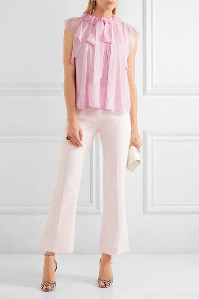Temperley London - Allure Ruffled Silk-chiffon Blouse - Pink - UK16