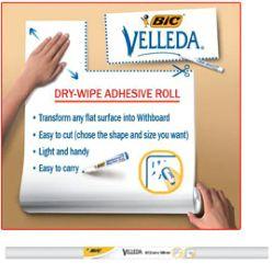 lavagna-bianca-velleda-roll-67x100cm-in-foglio-adesivo-cancellabile - Vendita cancelleria, prodotti per ufficio, scuola, consumabili
