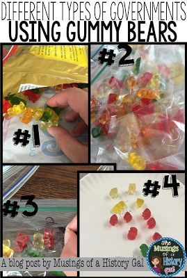 Using Gummy Bears to Reinforce Different Types of Governments