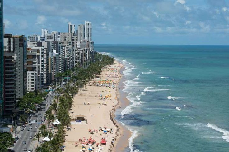 Praia em Recife, capital de Pernambuco