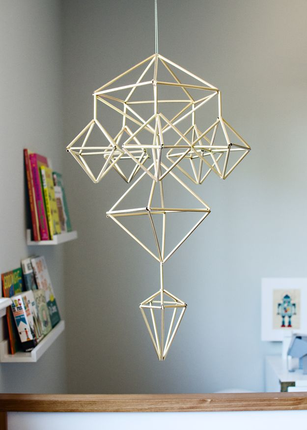 Get a little more complex and use the straws to make a mobile. | 33 Unexpected Things You Can Make With Ikea Products