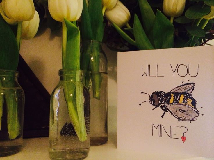 Love valentines cards bee etsy thingsilove