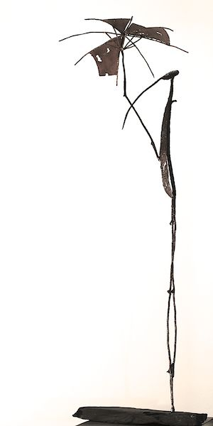 Alone, 2014. Metall. 138x60x40 cm.