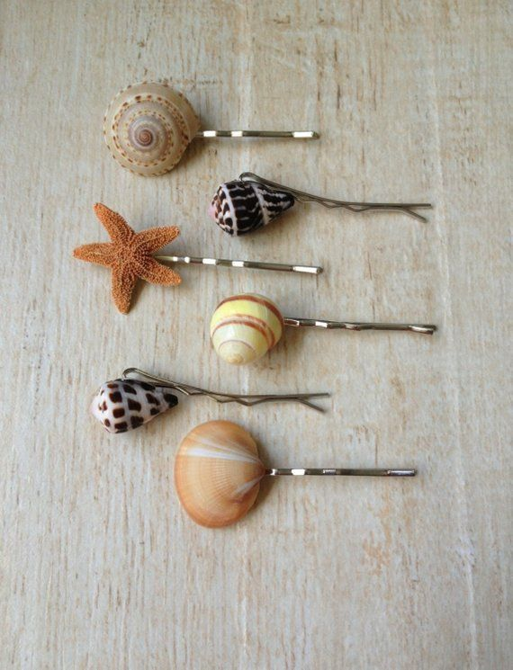 Shell Hair Pin Ocean Hair Style Beach Wedding Mermaid Costume Accessory Bobby Pin Music Festival Summer Surfer Girl Vacation Hawaiian Luau