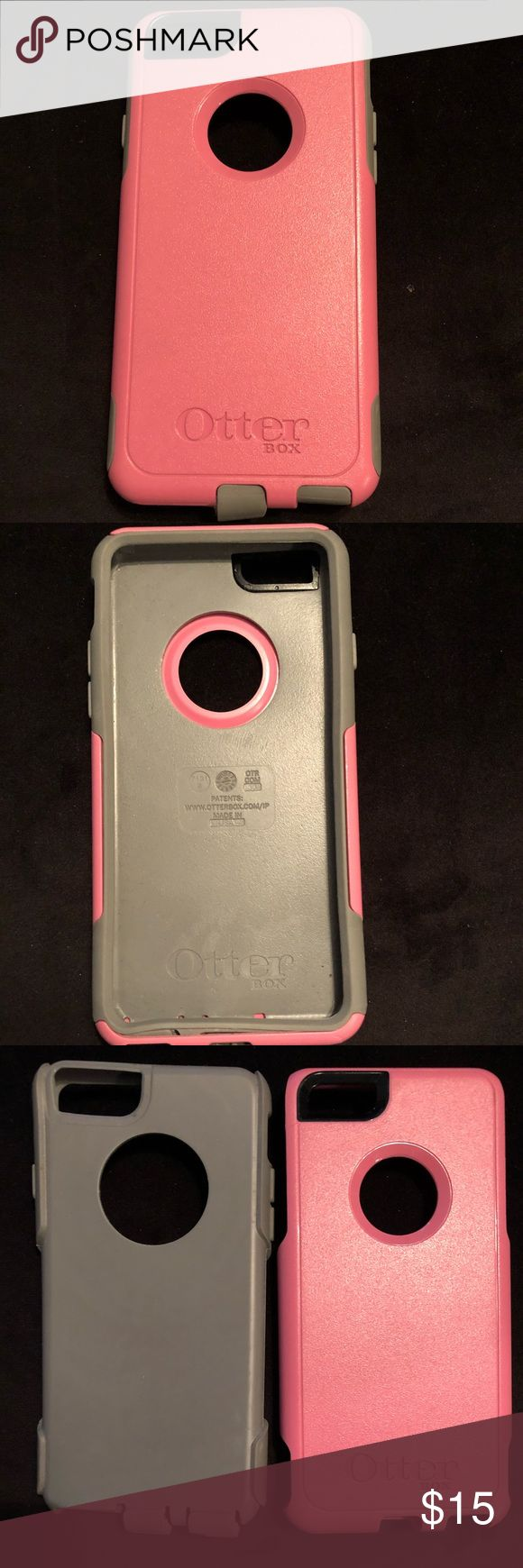 iPhone 6/6s Otter Box case Pink and grey Otter Box case for an iPhone 6/6s. Inner rubber case is grey and hard outter plastic shell is pink. OtterBox Accessories Phone Cases