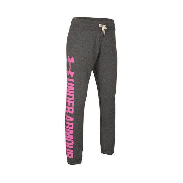 Women's Under Armour Favorite Fleece Boyfriend Pants ($41) ❤ liked on Polyvore featuring activewear, activewear pants, carbon heather, cuffed sweatpants, cuff sweat pants, under armour sweatpants, workout sweatpants and boyfriend sweatpants