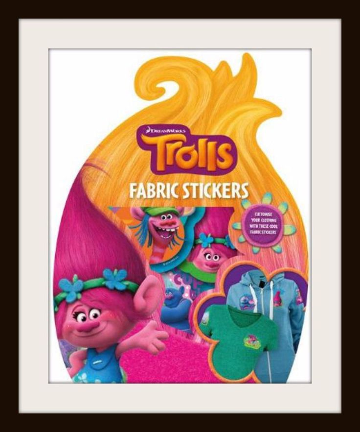 TROLLS Fabric Stickers - DREAMWORKS - Brighten up your clothes! - Kids Gift NEW