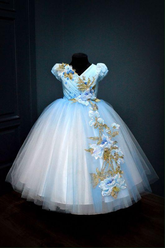 Голубые в цветочек платья скарлетт