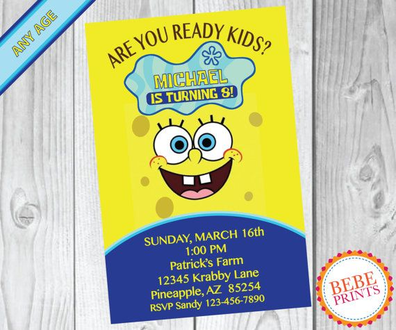 75 best Spongebob Party images on Pinterest Birthday party ideas