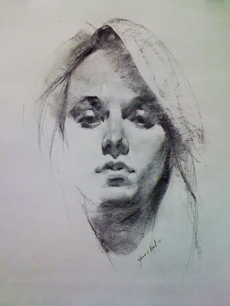 charcoal drawings of little girl faces | ... inspired by so many. Brush pen and vine charcoal studies from life