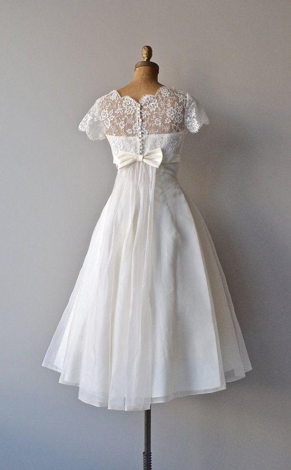 Thing of Beauty wedding dress silk 1950s wedding by DearGolden