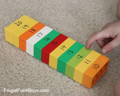 Activities for Learning Letters and Numbers with Duplo Lego (or a Bible verse for children who can read?)