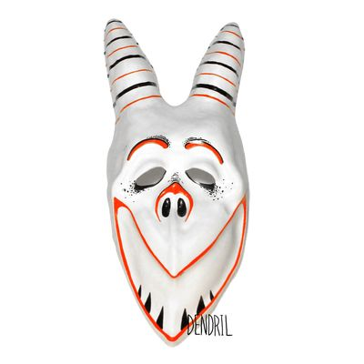 Red White Grin Mask from Dendril's Bazaar