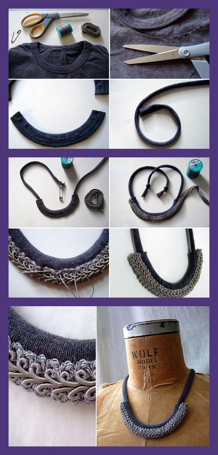 Beautiful DIY necklace. #crafts #diy #necklace