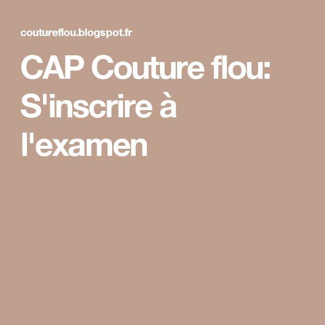 CAP Couture flou: S'inscrire à l'examen