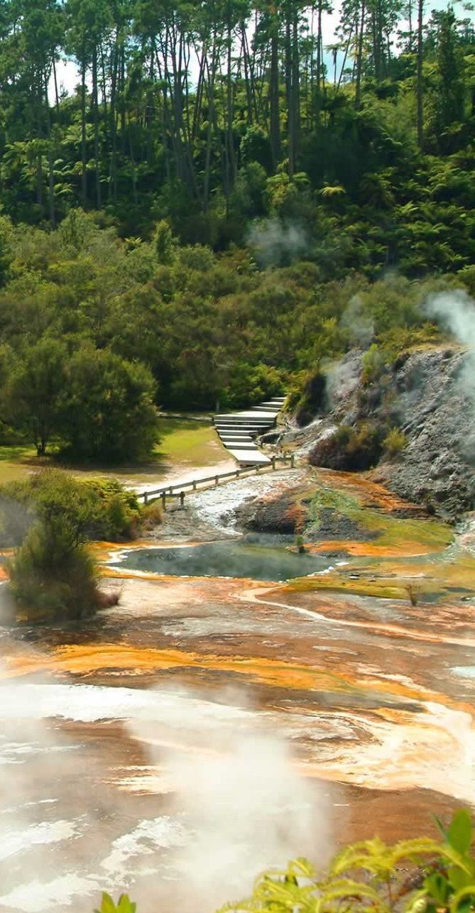 Geothermal Activity at Orakei Korako - between Rotorua and Taupo, North Island, NZ