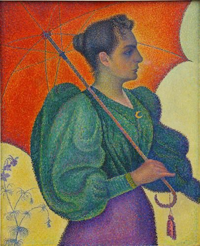 21.195 Femme à l'ombrelle Signac Woman with a Parasol - Paul Signac