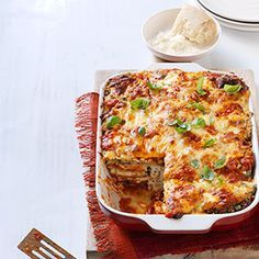Eggplant Parmesan Lasagna, Zach made this and added ground beef and feta cheese. It was to die for!