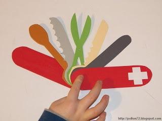 coltellino svizzero di cartoncino
