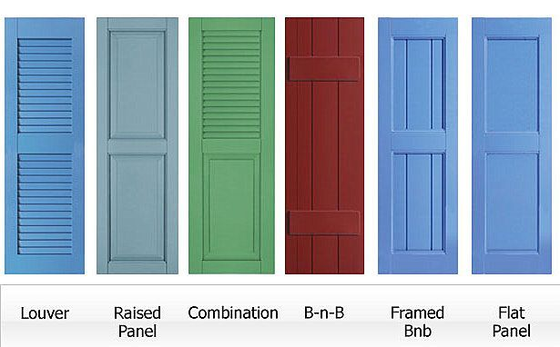 61 best house paint colors images on pinterest house - Different styles of exterior shutters ...