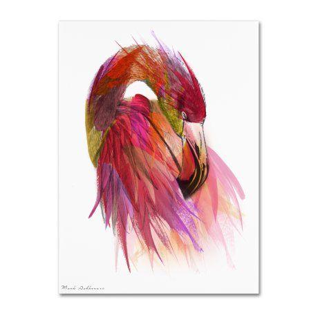Trademark Fine Art 'Flamingo Colors 2' Canvas Art by Mark Ashkenazi, Size: 24 x 32, Pink